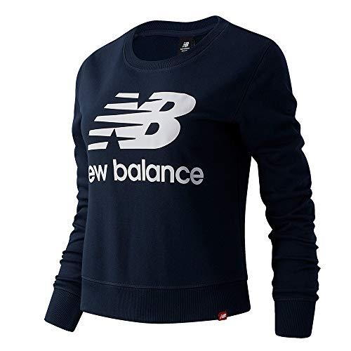 New Balance Essentials Crew Sweatshirt Damen dunkelblau/weiß, S