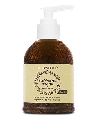 ST. D'VENCÉ Moroccan Argan Oil & Raw Honey Moisturising Face Wash   Parabens & Sulphate Free   150 ml