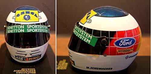 MS Collection Michael Schumacher Replika Helm Benetton 1993 Double, Minichamps 1:8