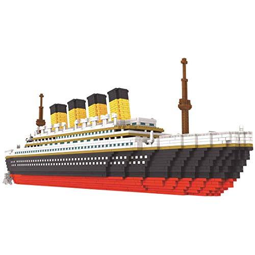HENG 3800Stk Technik Titanic Kreuzfahrtschiffmodell DIY Architekturmodell, Kompatibel mit Lego