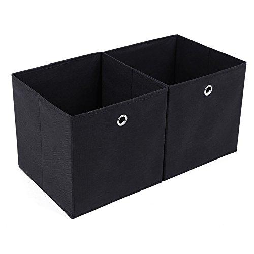 SONGMICS Faltbare Aufbewahrungsbox mit Fingerloch 30 x 30 x 30 cm - 2 Stück