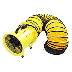 Best Choice for Best Manhole Blower: Maxx Air 8-Inch Yellow Heavy Duty Cylinder Fan