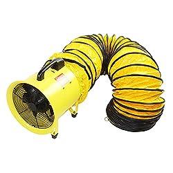 Best Choice for Best Manhole Blower: Maxx Air 8-Inch Yellow Heavy Duty Cylinder Fan