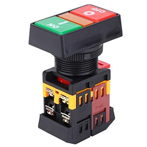 Interruttore a pulsante verde chiaro a LED Interruttore a pulsante momentaneo Attivazione/disattivazione Interruttori a levetta impermeabili per la casa(220V)