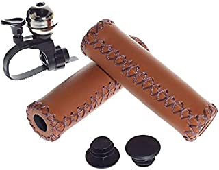 Karo Ergonomic Bicycle Handle Grips Set of Two//PVC Leather-Like Texture//Diamond Pattern//Easy to Install on Bike Handlebar//for Men Women Children