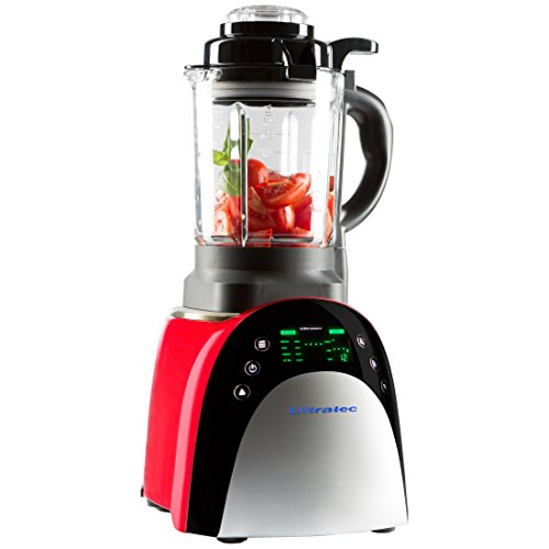 Ultratec Mixer mit Aufwärmfunktion – Multifunktions-Küchengerät mit Touchscreen, 1.800 Watt, Smoothie Mixer, Soup Maker, Fondue und Suppenbereiter, Rot