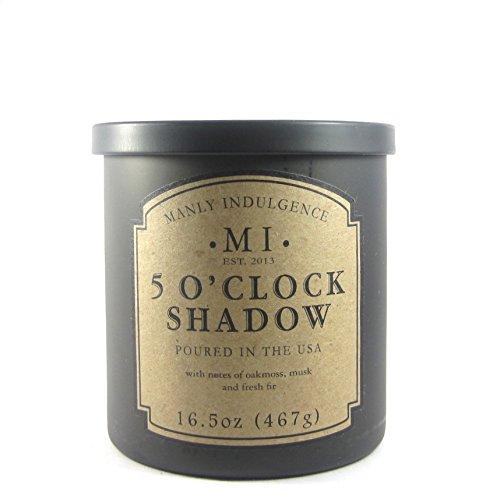 Manly Indulgence Large Single Wick Candle --5 O'Clock Shadow