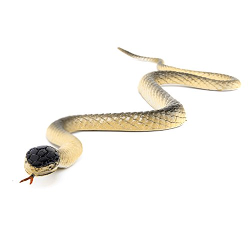 Modèle Animal Roi Cobra Serpent 18 Pouces Figurine Imitation Prétendre Blague Jouet - Or