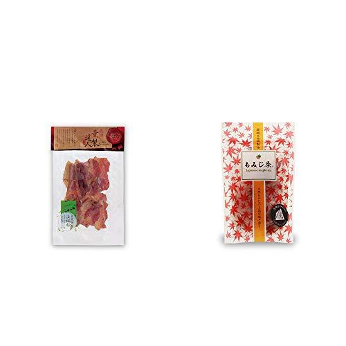 [2点セット] 薫製達人 豚バラベーコン燻製(60g)[飛騨山椒付き]・もみじ茶(7パック入)