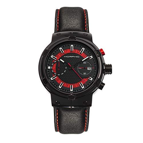 Morphic M91 Series Reloj cronógrafo con correa de cuero con...