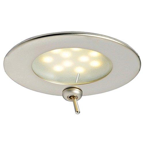 OSCULATI Adria LED plafondlamp satijn met schakelaar