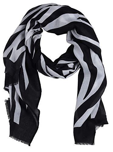 Zwillingsherz Damenschal im Zebra Muster - Eleganter Frühlingsschal – Tuch für Frauen Damen Mädchen - Hochwertiger Freizeitschal - Halstuch und Chiffon-Stola - Frühjahr Sommer Herbst - swz