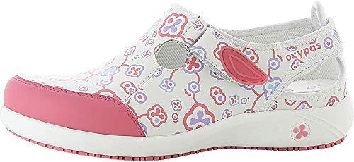 Oxypas Lilia - Zapatos de Trabajo y Seguridad para Mujer, Color Blanco (FLR), 36 EU
