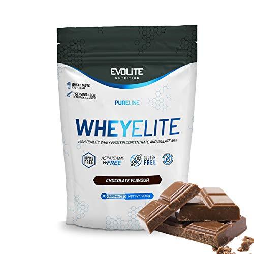 Evolite Nutrition WheyElite 900 g - Proteina Whey - Crear Batidos Para Adelgazar - Proteinas Para Aumentar Masa Muscular - Proteina Isolada (chocolate)