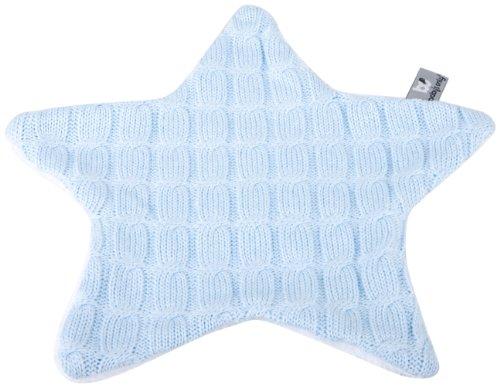 Baby's Only 133620 Kuscheltuch Schmusetuch Stern Teddyfutter gestrickt, baby blau