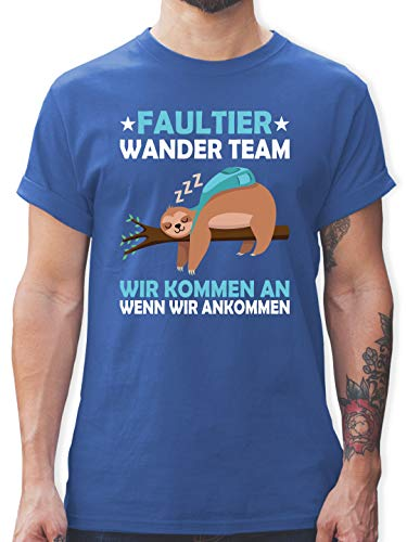 Sprüche - Faultier Wander Team - XL - Royalblau - Shirt faultier - L190 - Tshirt Herren und Männer T-Shirts