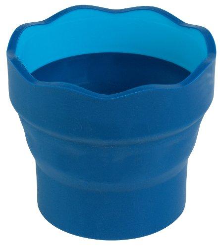 Faber-Castell 181510-p2 - Vaso plegable (pack de 2 unidades), color azul