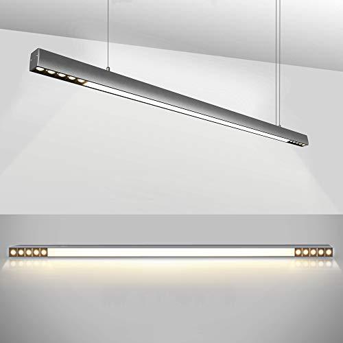 ZMH LED Pendelleuchte esstisch Hängeleuchte Büro 29W 4000K Natural Licht mit OSRAM Chips Büroleuchte Pendellampe aus Aluminum Hängelampe für Arbeitszimmer Esszimmer -120cm [Energieklasse A++]
