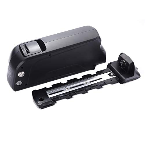 HANERIDE Ersatzakku 48V 14Ah 672Wh Pedelec Elektrofahrrad mit USB-Anschluss und Ladegerät