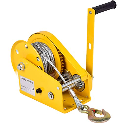LXYYSG Cabrestante Manual Pequeño, Portátil Cabestrante Manual con Freno y Cable,...