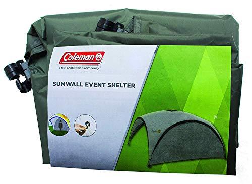 Zijwand voor Coleman Event Shelter M 3 x 3 m, 1 paviljoen zijpaneel, zijzeil, dient ook als zonwering, waterafstotend, groen