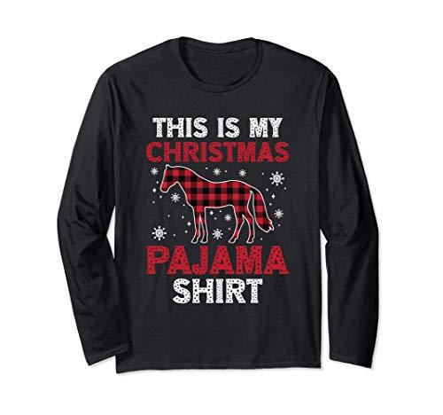 Cadeau de Noël C'est mon pyjama de Noël Cheval Buffle Plaid Manche Longue
