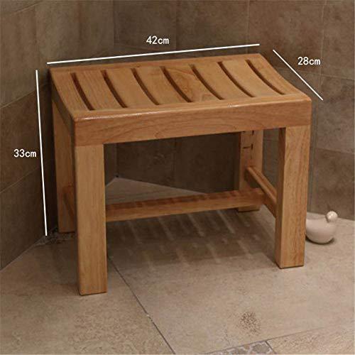 QINAIDI Hölzerne Dusch- / Badhocker für ältere Menschen/Behinderte, rutschfeste Hochleistungs-Duschbank für Badezimmer, Dusch-Spa-Stuhlsitz,L