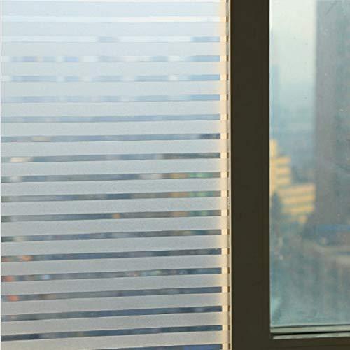 LMKJ Película de Ventana Adhesiva estática, patrón de Rayas de PVC, antideslumbrante, Impermeable, Pegatina de Vidrio Decorativa, película de Ventana A4 50x200cm