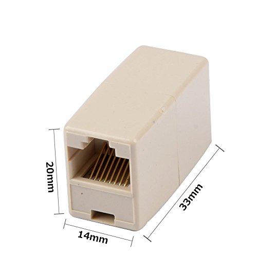『MyArmor LANケーブル用 延長コネクタ 中継コネクタ Cat5e Cat6 ケーブル用 RJ45 8P8C イーサネット ネットワーク アダプター プラグ メス-メス( 20個 )』の2枚目の画像