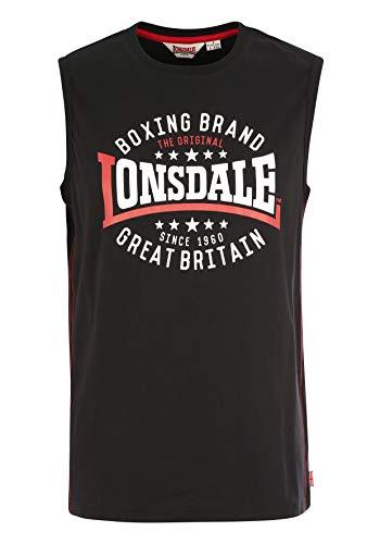 Lonsdale St.Agnes Camisa, Negro, XXL para Hombre