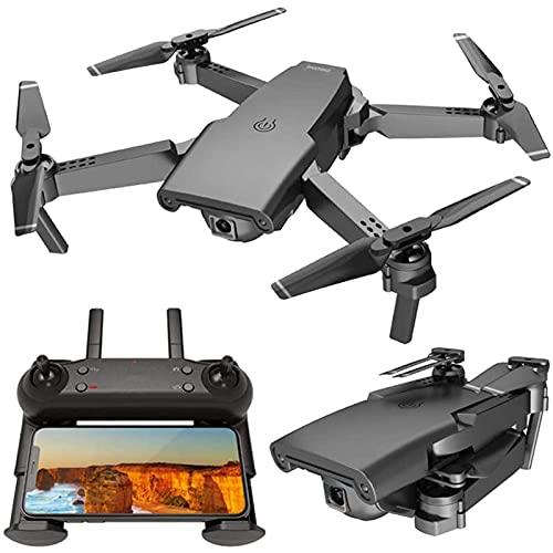 Drone GPS 4K con videocamera in diretta video, drone pieghevole per adulti, quadricottero RC per principianti, con ritorno automatico a casa, seguimi, doppia fotocamera, lungo raggio di controllo
