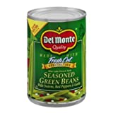 Del Monte French Style Seasoned Green Beans with Onions, Red Pepper & Garlic 14.5oz Can (Pack of 6)