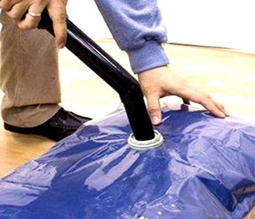 ASISnettrade Lot de 4 sacs de rangement sous vide pour vêtements - 2 x 100 x 80 cm et 2 x 60 x 45 cm - Réduit le volume de 75 %.