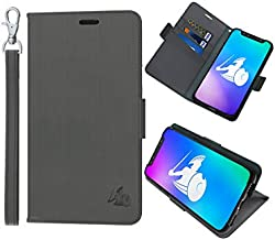 DefenderShield Compatible iPhone 11 Pro Max 5G & EMF Radiation Case - Detachable Magnetic Anti Radiation Shield & RFID Blocker Wallet Case w/Wrist Strap - Cell Phone Radiation Protection