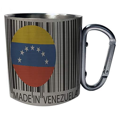 Hecho en Venezuela Travel World Funny Novelty Taza de viaje mosquetón de acero inoxidable 11oz uu52c