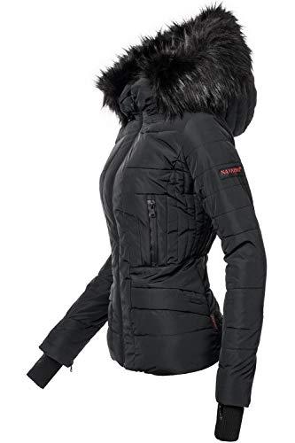 Navahoo Damen Winter Jacke Steppjacke Adele Schwarz Gr. S