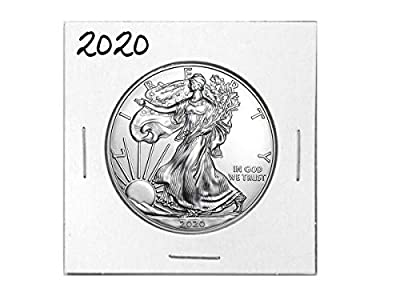2020 - American Silver Eagle .999 Fine Silver with Our Certificate of Authenticity Dollar Uncirculated Us Mint