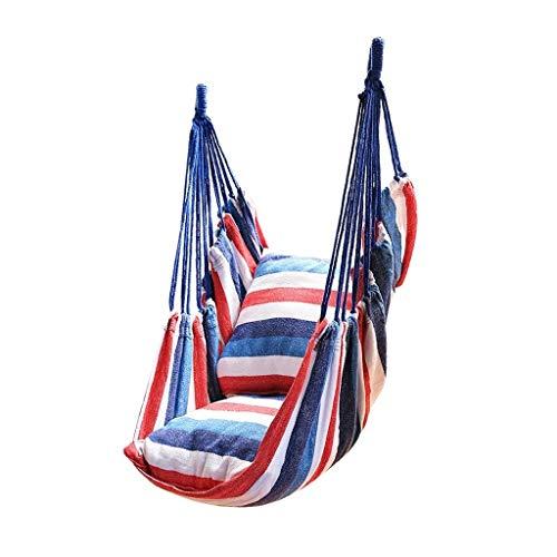 Balancelle de Jardin Stripes Hamac Chaise Hanging, Swing for Voyage Camping Backyard, Porche, extérieur ou l'intérieur, étui de transport inclus Balançoire (Color : B)