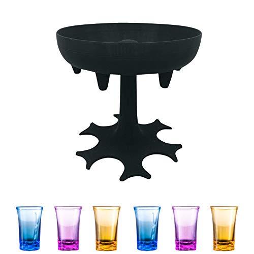 AIKY 6 Schnapsglas Spender und Halter, Träger Caddy Schnaps Spender Party Geschenke Trinkspiele Schnapsgläser für Bar Cocktail Great Party
