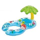 INTEX(インテックス)浮き輪 親子用 うきわ プールボート 足入れ プール・海・川 泳ぎトレーナー タンデムリング 屋根付き ハンドル付き おもちゃ
