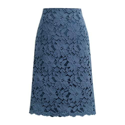 N\P Falda de mujer verano más tamaño encaje elegante oficina faldas mujeres lápiz vendaje