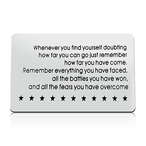 Cancer Survivor Gift Recovery Gift Engraved Wallet Insert Card Stay Strong Post Surgery Gift AA Recovery Sobriety GiftsGraduation Christmas Inspirational Gifts for Men Women Friend Family