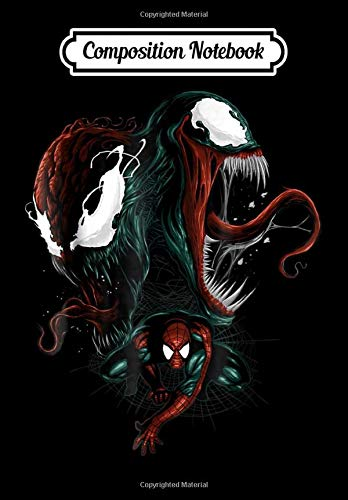 Composition Notebook: Marvel Spider-Man Venom and Carnage Graphic, Journal 6 x 9, 100 Page Blank Lined Paperback Journal/Notebook