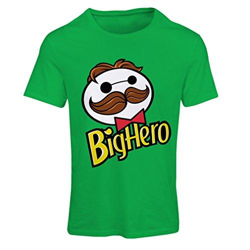 Frauen T-Shirt Big Hero (Large Grün Mehrfarben)