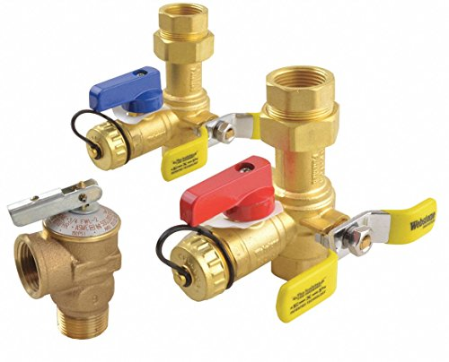 RHEEM Low-Lead Brass Isolator Valve Kit, for Use with: Rheem Tankless Heaters