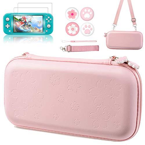 OLDZHU Rosado Funda Portátil Kit de Accesorios Compatible con Nintendo Switch Lite,Lindos...