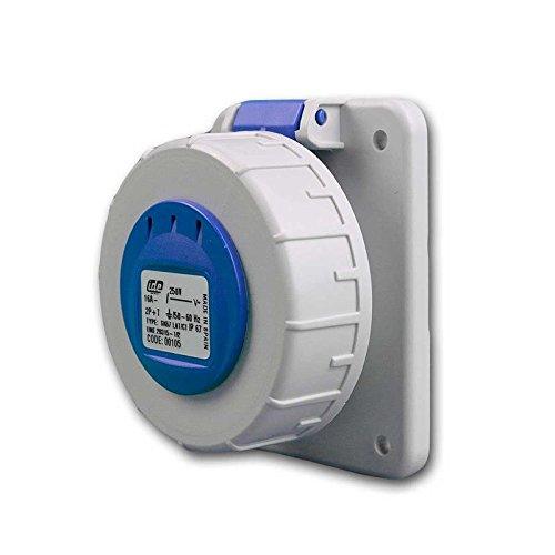 Einbausteckdose Schuko IP67, Einbausteckdose blau