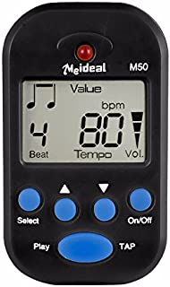 Loneflash Digital Metronome,Clip-On Metronome Digital Beat Tempo Mini Metronome Portable Electronic Metronome With Battery, Suitable for Piano, Violin, Guitar, Trap Drum,Running (Black)