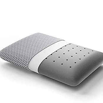 BedStory Memory Foam Pillow Bamboo Charcoal Pillows for Sleeping Cervical Bed Pillow for Neck Pain- Side Back Stomach Sleepers Removable Cover & Ventilated Design Standard Size