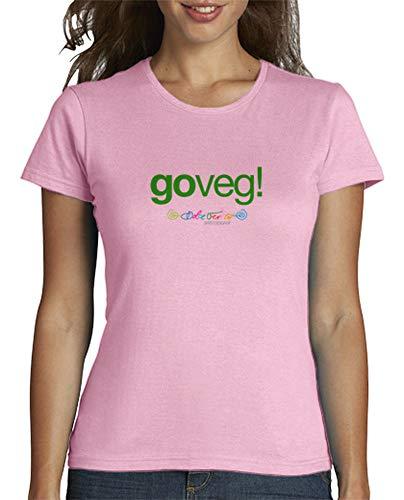 latostadora - Camiseta Goveg para Mujer Rosa XL